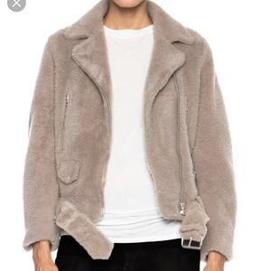 Acne studios brown fur jacket size small